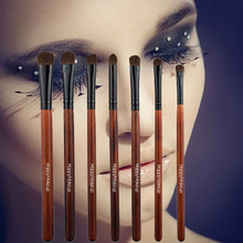 7pcs Girls Eye Brushes Set High Quality Horse Hair Blending Eyeshadow Make Up Brush Aluminum Ferrule Natural Wood Handle