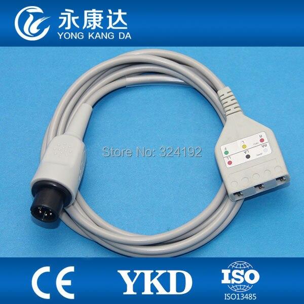 Câble tronc ECG pour moniteur patient pour Goldway avec câble patient 5ld, AHA/IEC, Readel-6pin