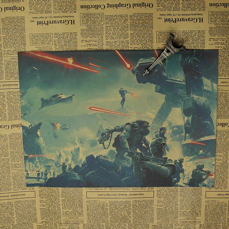 スターウォーズバトルのフロントラインのゲームポスターヴィンテージクラフト紙ジェダイの絵騎士 Vinda 誕生日