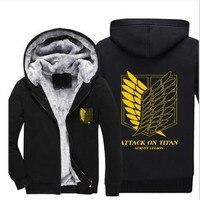 Men Women Anime Attack On Titan Cosplay Jacket Sweatshirts Thicken Hoodie Zipper Coat 5 Styles