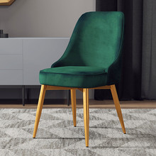 accent kitchen chair dining chair with pu leather seat solid wood swivel function Modern Minimalist Simple Rebound Restaurant Dining Chair Restaurant Modern Pu Chinese Iron Chair Wood Kitchen Dining Chair Rest