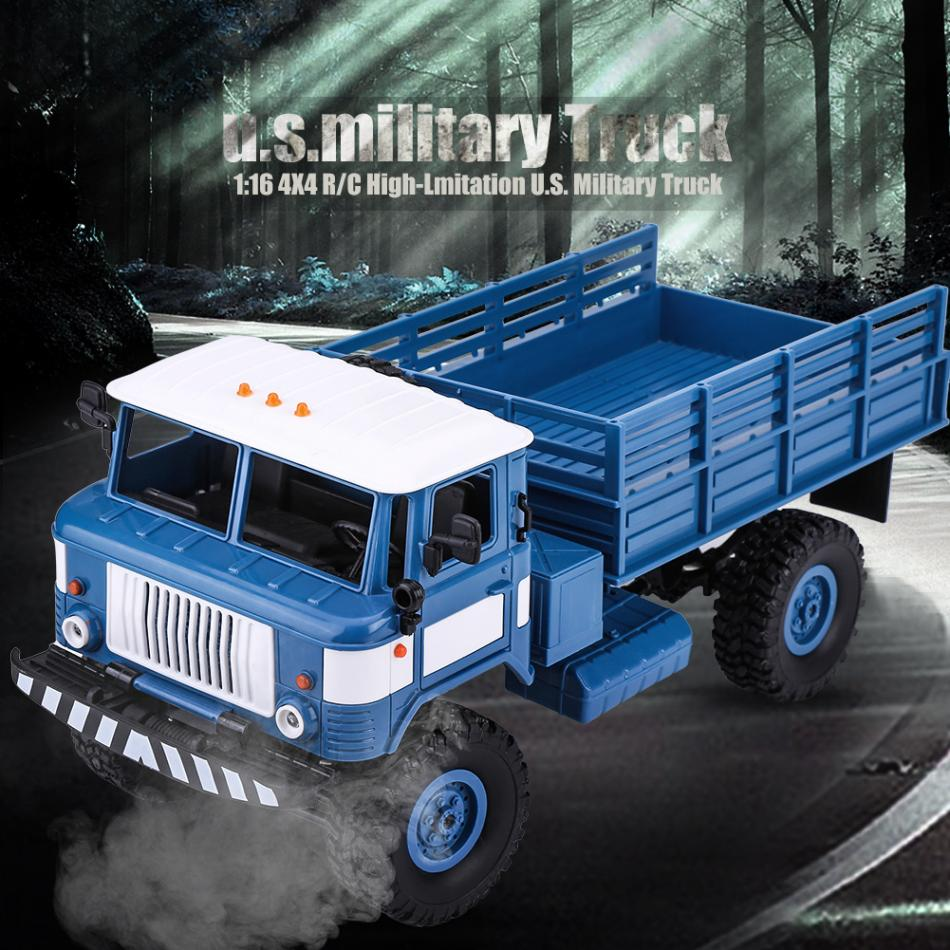 RC 1:16 2.4GHz 4CH RC Crawler Military Climbing Truck Toys For Boys Four-wheel Drive Remote Control Vehicle RC Model Car Toy