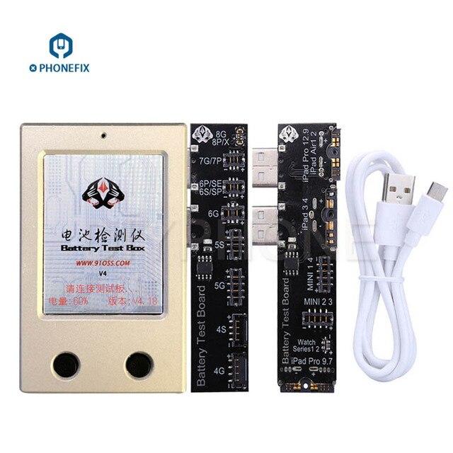 PHONEFIX Của Apple Battery Hộp Kiểm Tra Pin Cuộc Sống Khỏe Mạnh Tester Rõ Ràng Chu Kỳ Công Cụ cho iPhone 4-X iPad 3-Mini4 Pro 9.7 12.9 iWatch