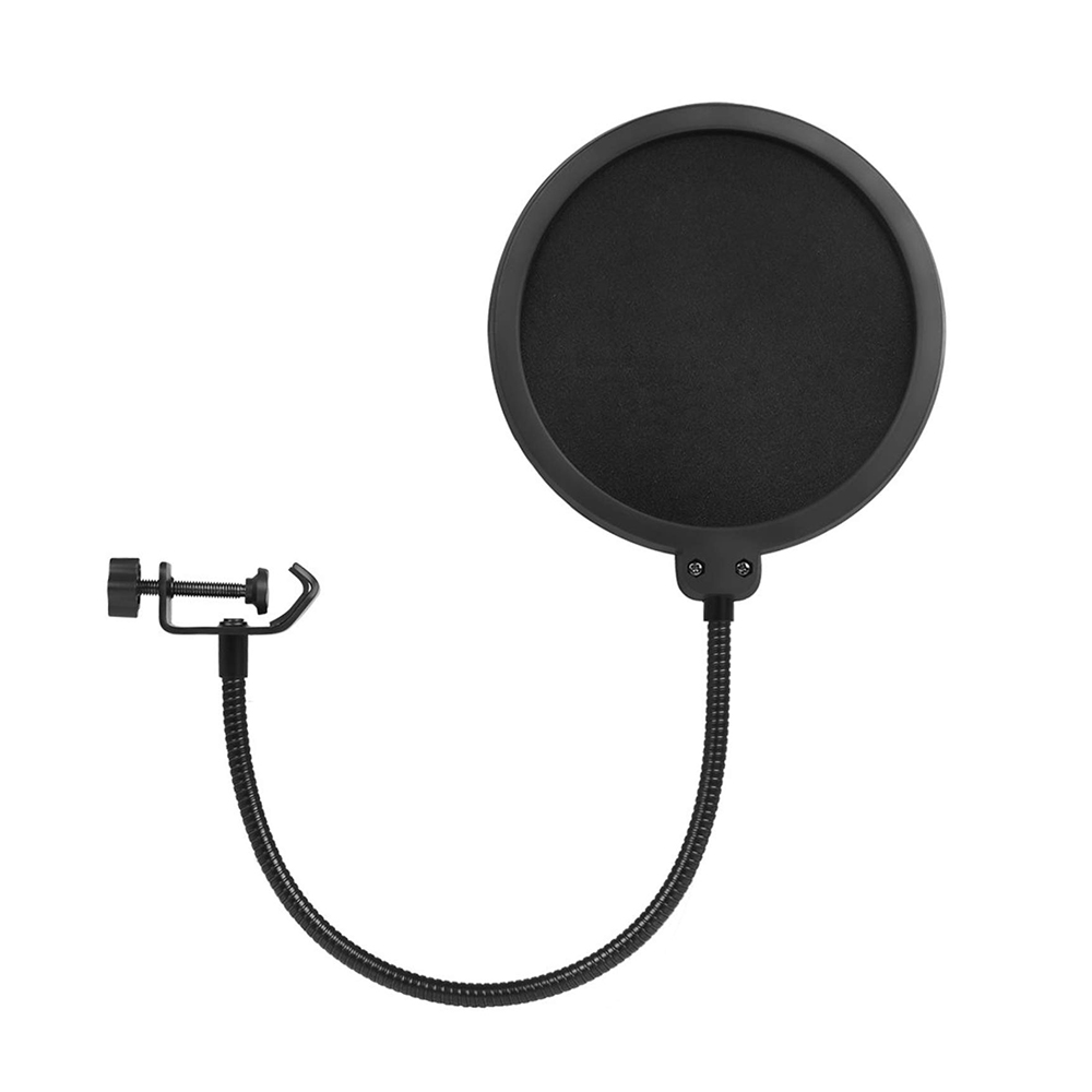 Microphone Pop Filter Metal Pop Filter Shield Double Layer Windscreen Popfilter For USB Microhone Podcast Microphone