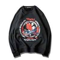 2017日本カジュアルスタイルtedmanラッキー小悪魔プリントパーカー男性ロングスリーブプラスサイズ5xl bapeトレーナー男性ブランドパーカ