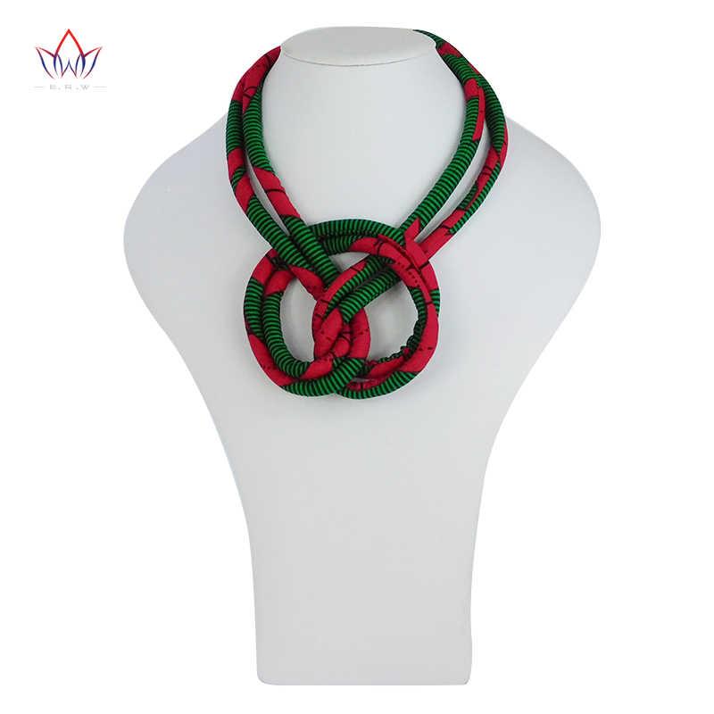 In phi Vòng Cổ Ankara In Necklace Phi Dân Tộc Handmade trang sức Châu Phi vải trang sức cho Phụ Nữ không có WYB300
