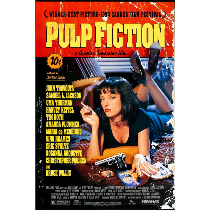 Best Nice Custom Pulp Fiction Poster Good Quality Wall Poster Home decoration Wall Sticker For Bedroom cd%45 ice cream cart toy