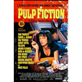 Best Nice Custom Pulp Fiction Poster Good Quality Wall Poster Home decoration Wall Sticker For Bedroom cd%45 лол блинг