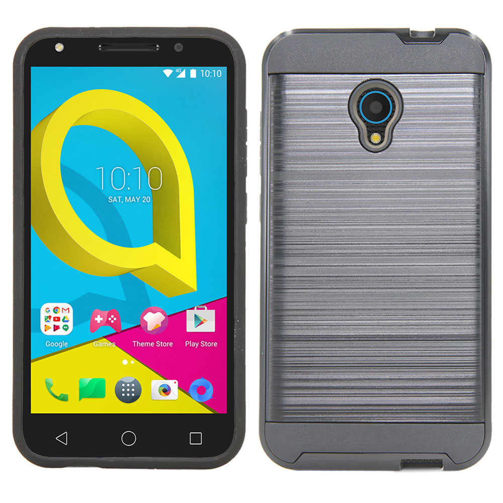 2in1 Hybrid Brushed Rugged Case Soft Tpu Rubber Hard Pc Back Anti Armor Lg K8 Hardcase Dual Layer Scratch Cover For