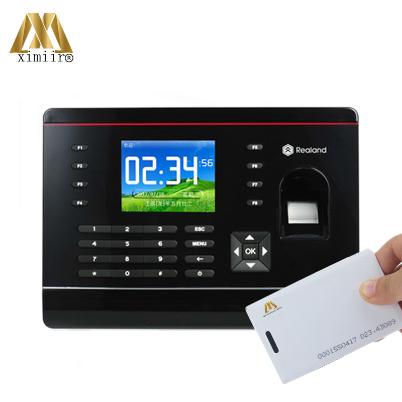 A-C061 Support P2P Biometric Fingerprint Time Recorder TCP/IP Communication 125KHz RFID Card Employee Time Attendance System