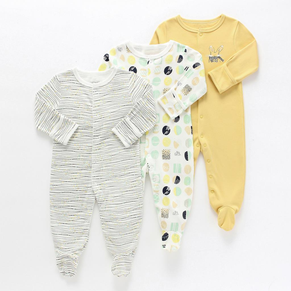 3Pcs 0-1Y Newborn Baby   Rompers   Autumn Winter Baby Boy Jumpsuit Clothing 100% Cotton Underwear   Romper   Baby Warm Sleepsuit clothes