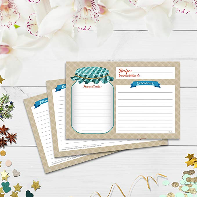 Купить с кэшбэком 20sheet Kitchen Recipe Cards Double Sided Cards 4x5.6 inch cardstock paper stationery for home kitchen invitation cards