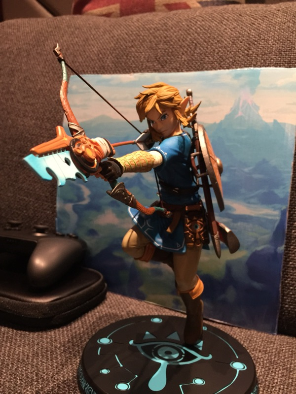 Legend of Zelda Figure BREATH OF THE WILD LINK Link Zelda PVC Model Action Figure Model Toy anime the legend of zelda action figure link fighting ver link doll pvc figure collectible model toy 30cm kt3647