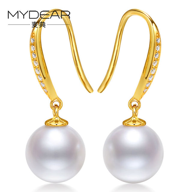 aa golden index earring akoya pearl cultured pearls earrings gold