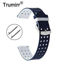 18 мм резины ремешок для часов для Asus Zenwatch 2 Для женщин 1,45 ''WI502Q Quick Release запястье браслет леди пояса запястья ремень Спорт