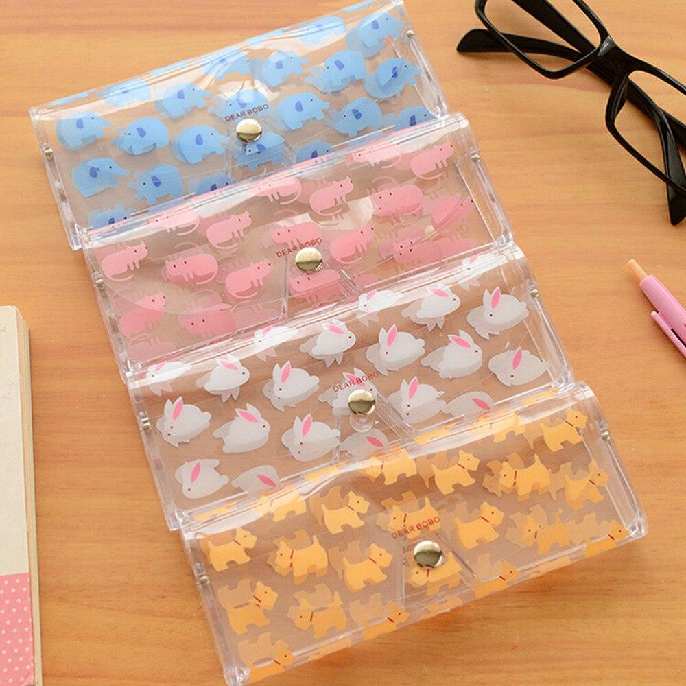 Hot Sale Kawaii Cartoon Animals PVC Glasses Box Cute Girl's Transparent Glasses Case Protable Eyewear Boxes