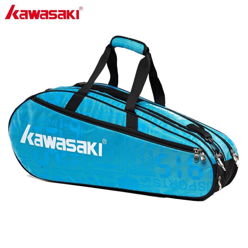Kawasaki Marque Sport de Raquette Sacs Profissional Badminton Raquette De Tennis Sac Unique Épaule Gym Sacs KBB-8678