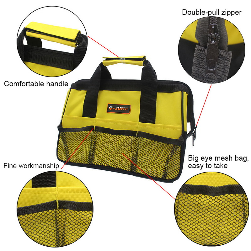 1pc Cheap Multifunction Nylon Canvas Waterproof Tool Bags Portable Double Oxford Cloth Storage Bag Close Top Wide Mouth 2019 New in Tool Bags from Tools
