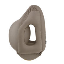 купить Soft Inflatable Air Travel Pillow Airplane Neck Support Head Cushion Office Nap Rest дешево