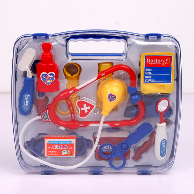 цена на Children Pretend Doctor Toy Set Plastic Nurse Doctor Toys Pretend play Physician Cosplay Set Medical Tool Box Kit For kids