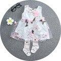 Bebê Menina Vestido de verão 2016 Novo Vestido de Princesa Partido Das Meninas Do Bebê para a Criança Roupas Vestidos de tutu Roupa Dos Miúdos frete grátis