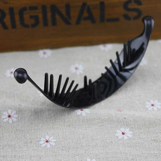 Держатель для волос «хвостик» для маленьких девочек, 1 шт., черный зажим для волос, аксессуары для волос