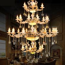 hot deal buy star hotel large chandeliers villa crystal chandeliers modern big chandelier lamps lustres living room luxury led luminaria