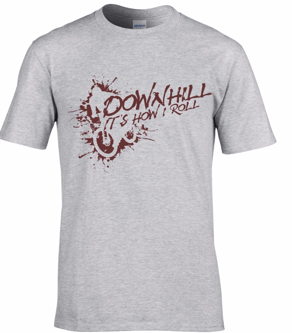 2018 Summer T Shirt Short Sleeve Cotton T Shirts Man Clothing Mountain Biker Cycler Downhill Its How I Roll Custom Design Tees