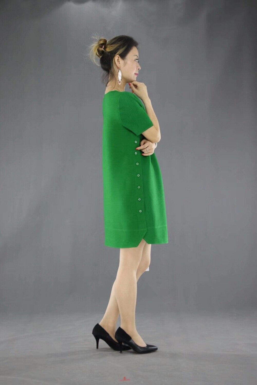 Appliques vert Sur Pur T Mode Noir Côtés Courtes Gratuite Longs De Couleur Manches Les En Boutons Pliage À Deux rose Livraison Stock shirt WaPY4q1n