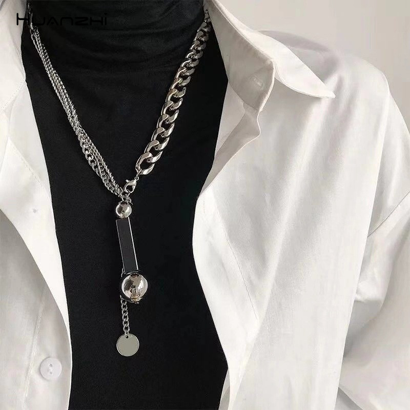 Unisex Men/'s Stainless Steel  Hip Hop Chain Choker Necklace Punk Jewelry Gift~GQ