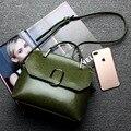 2016 Fashion Winter Women Handbags Elegant Oil Wax Bag Brief Small Cow Girl's Messenger Bag
