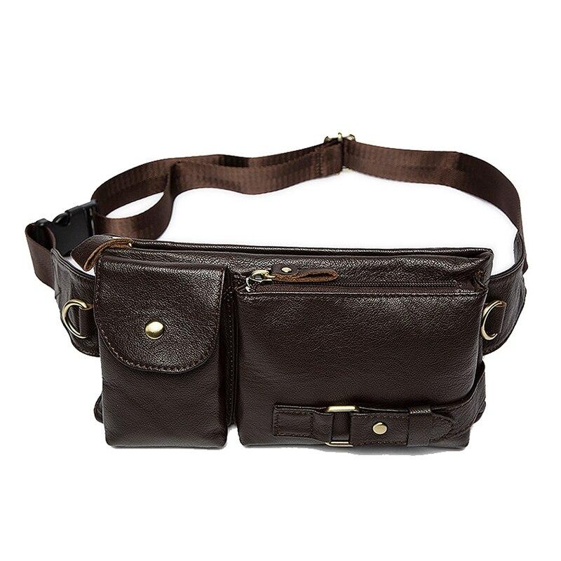 Mva мужские карманы кожаные карманы сумка для телефона Ретро повседневные Карманы - Цвет: Coffee