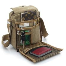 hot!new Multifunctional man's messenger bag causal canvas crossbody business Storage travel bag key coin card holde solid bags