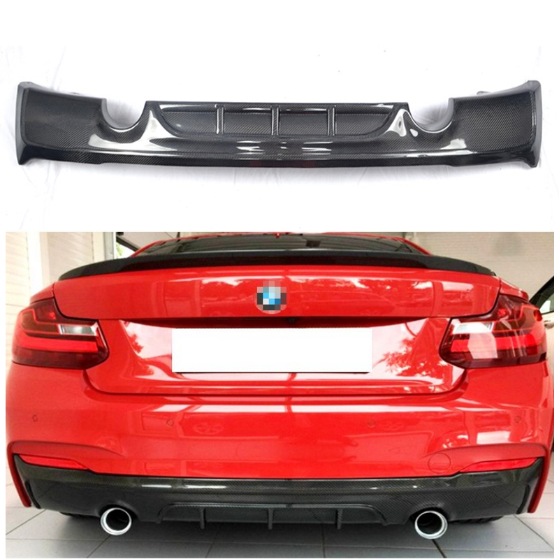 Aliexpress Com Buy 220i 228i M235i M Tech Carbon Fiber Rear Bumper Diffuser For Bmw 2 Series