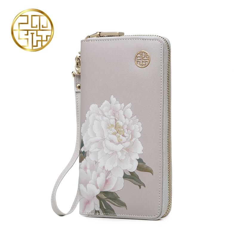 Famous brand top quality dermis women bag 2016 summer new China the wind Printing long wallet Fashion Clutch Wallet все цены