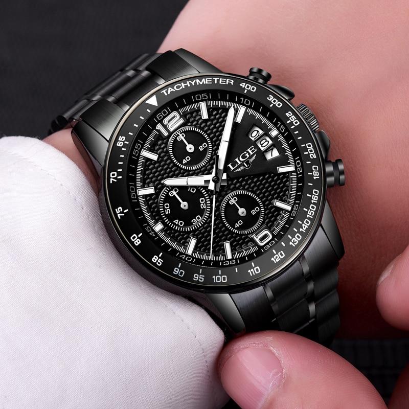 Watches Men Luxury Brand Sport Quartz Full Steel Watch Man Waterproof Military Wrist Watch Men Fashion Clock Relogio Masculino