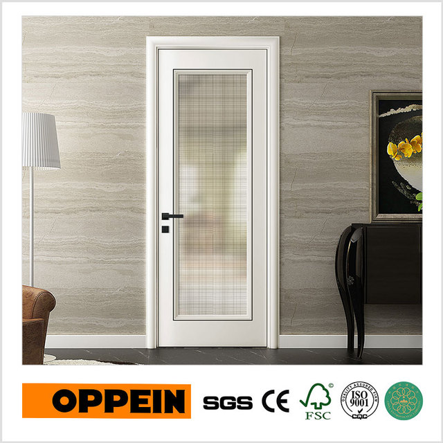 OPPEIN New Design Single White Lacquer Finish Wooden Glass Flush Interior Door (YDC010D) : lacquer doors - pezcame.com