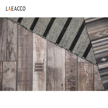 Laeacco Old Wooden Board Stripes Cloth Photography Backgrounds Customized Digital Photographic Backdrops For Photo Studio