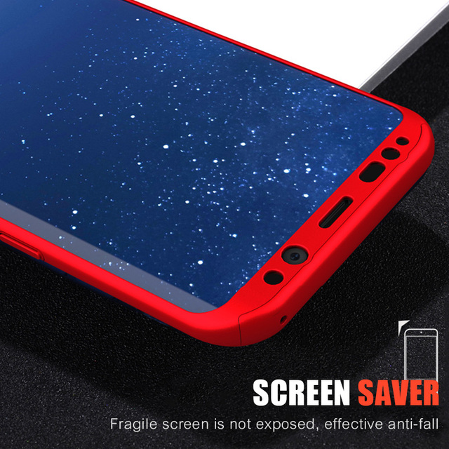 Luxury 360 Full Coverage Phone Case For Samsung Galaxy S9 S8 Plus Cover For Samsung A5 A7 2016 2017 Case For Samsung Note 8 Case