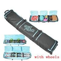 Большой monoboard сноуборд мешок большой лыжи защитный чехол профессиональный спорт, лыжные оснастить колеса лыжный мешок двойной борт