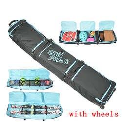 Большой моноборд сноуборд сумка большой Лыжный спорт защитный чехол professional sport лыжное снаряжение с колесом Лыжная сумка двойной доска