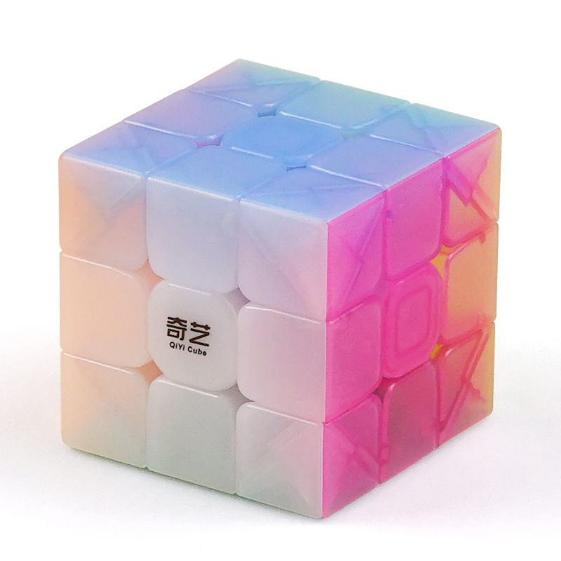 Qiyi Yongshi Jelly Magic Cube 3x3x3 Warrior W Antistress Master Speed Puzzle Twist For Kids Toys Brain Training Education Gift