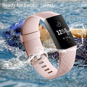 Image 4 - 12 ألوان أسورة ساعة ذكية ل Fitbit تهمة 3 4 حزام الرياضة استبدال الملحقات ل fitbit الفرقة correa ل fitbit charge3 4