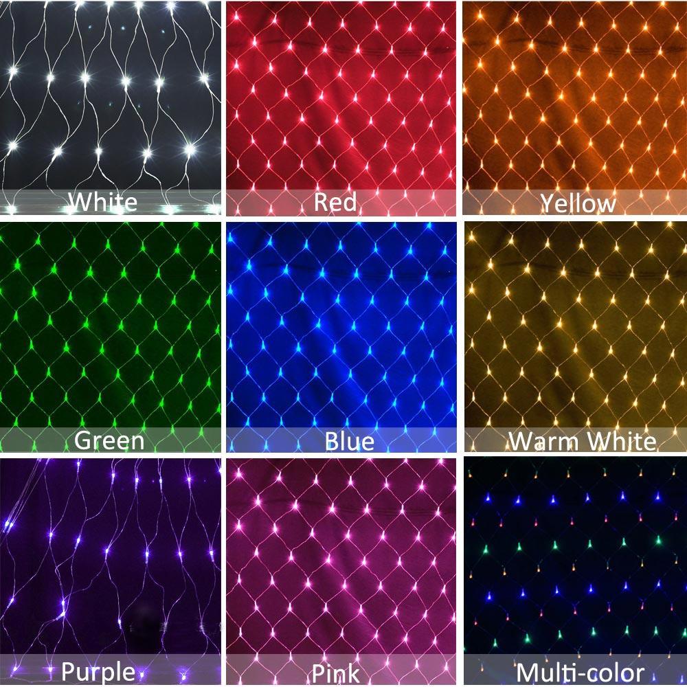 LED Net Mesh String Light Waterproof AC110V Chirstmas Wedding Party Home Decor