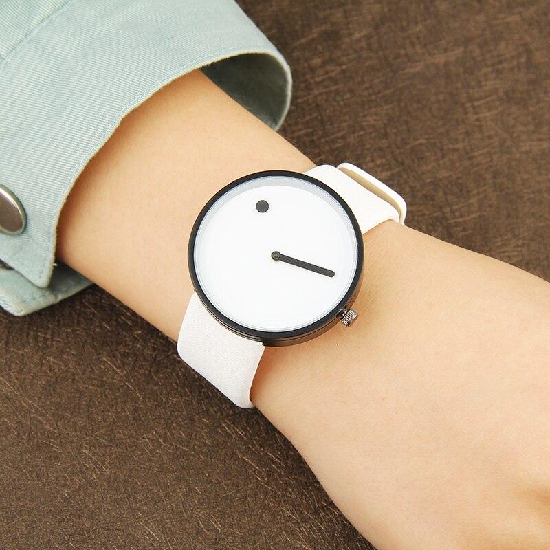 2017 estilo minimalista creativo relojes de pulsera BGG en blanco y - Relojes para hombres - foto 5