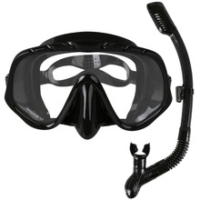Copozz Brand Professional Skuba Diving Mask Goggles Wide Vision Watersports Equipment With Anti-fog One-piece lens Underwater