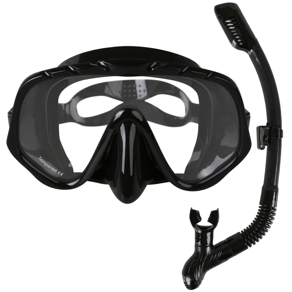 Copozz Brand Professional Skuba Diving Mask Goggles Wide Vision Watersports Equipment With Anti-fog One-piece lens Underwater(China)