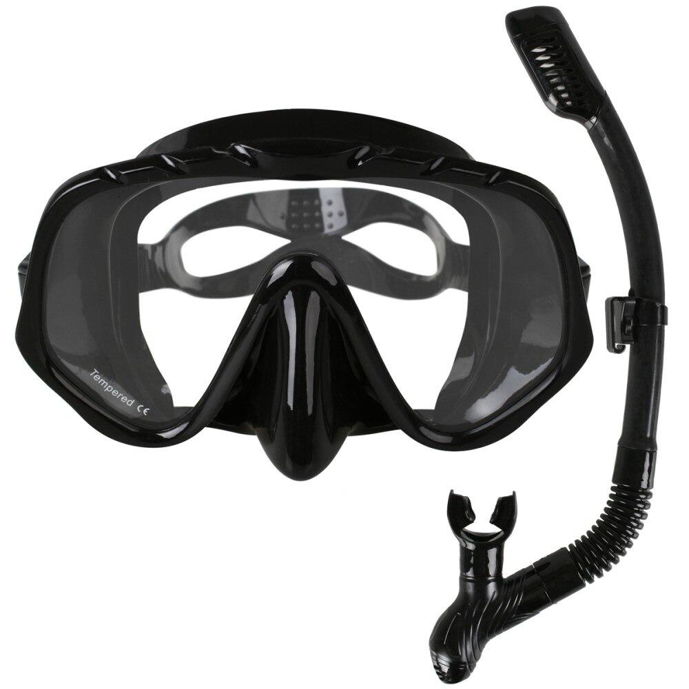 Masque de plongée professionnel de marque Copozz Skuba lunettes équipement de sports nautiques à Vision large avec lentille monobloc Anti-buée sous l'eau