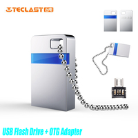 Teclast Real Capacity Mini USB 2 0 Flash Drive 8GB Memory Stick OTG Adapter Metal Pen