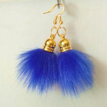 New Fashion 18 Colors Fake Fur Pompon Drop Earrings for women fashion jewelry for catwalk hanging earrings brincos colors for fashion